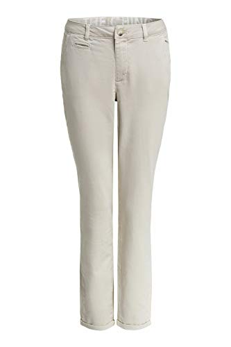 Oui Damen Hose The Chino in Slim Fit Straight fit Uni Basicmode