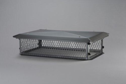 "Galvanized Steel Multi-Flue Chimney Cap Size: 8"" H x 29"" W x 17"" D"