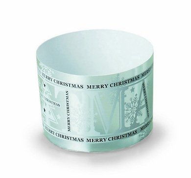 Welcome Home Christmas Baking Cups Silver Paper Bakeware