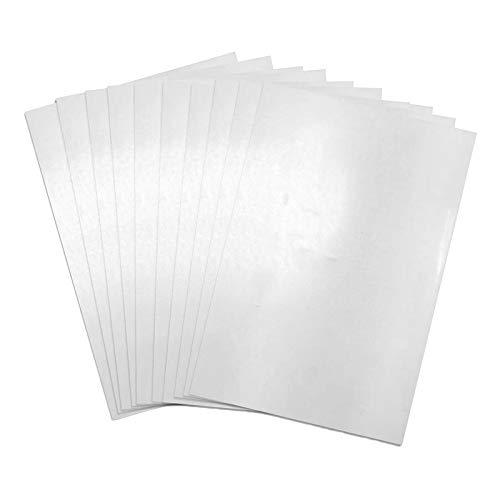 oshhni 10 Hojas Transparentes de Película de Papel Termoencogible, Dibujo de Bricolaje, Hallazgo de Joyería - 20x29cm