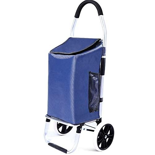 YUNLILI Convenientes Carrito de Compras portátil Plegable de Aluminio Carrito de Compras Pequeño Pull Cart Carro Carro de la Carretilla Carro del Equipaje Trolleador del Carro