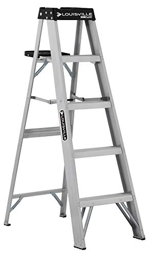 Louisville Ladder AS3005 Aluminum 5foot ladder 300Pound Duty Rating 5