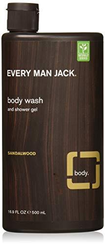 Every Man Jack Body Wash, Sandalwood, 16.9 Fluid Ounce (Pack Of 2)