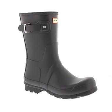 Hunter Mens Original Short Rain Boots Dark Slate 12 M