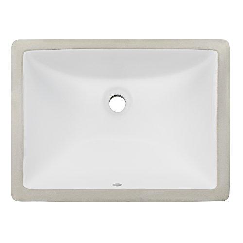 Ticor 18' square white porcelain undermount bathroom vanity sink...