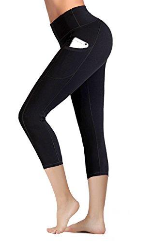 IUGA Taille Haute, Pantalon Yoga Poche intérieure/Out Design X-Grand 7880 Noir