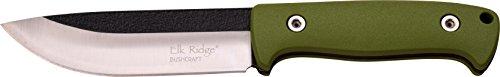 Elk Ridge ER-555 Serie, Taschenmesser Designer Griff GRÜN, 13,46 cm Outdoormesser ROSTFREI Feststehende Klinge für Angeln/ Camping, kompaktes 481gr Messer
