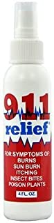 911 Relief Spray – Relieves Burns, Sunburn, Insect Bug Bite – Multipurpose Spray That Kills Pain and Itch Due to Psoriasis, Shingles, Chicken Pox - Eczema Treatment, Anti Itch and Pain Relief Spray
