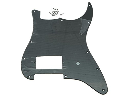 Kaish 11Loch Gitarren- Schlagbrett für Fender Delonge, in verschiedenen Farben Matte Black 1 Ply