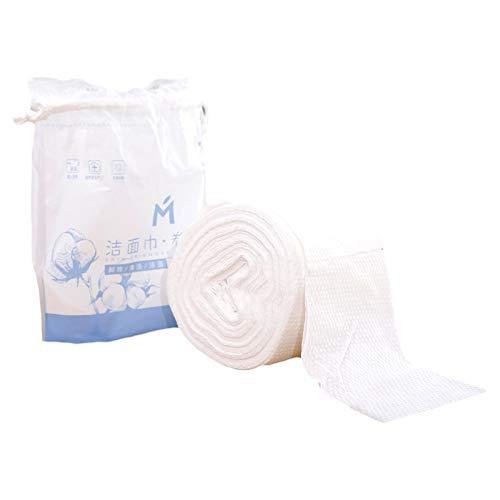 Trockentücher aus reiner Baumwolle Einweg-Gesichtshandtücher, Make-up für Babypflege, Windeln, Make-up-Entfernung, Patientenreinigung und Haustierreinigung (1 Packung – 60 Stück)