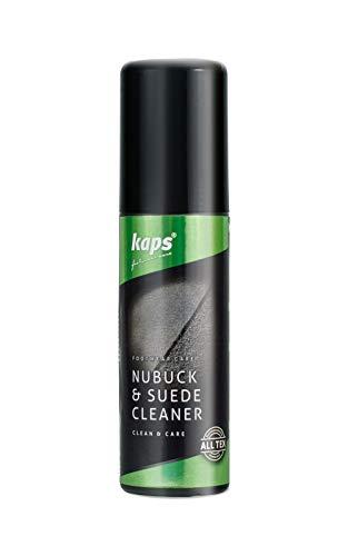 Kaps Reiniger für Schuhe und Stiefel aus Nubukleder und Wildleder, mit Bürste zum Auftragen, Shampoo für alle Farben, 75 ml