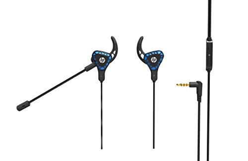 Headset HP Gamer Intra H150 Preto - Com Microfone modular maleável e ajustável Driver de 10mm P2 3.5 Gold com Áudio Stereo - 7QV35AA