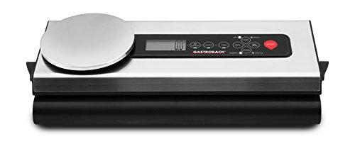 Gastroback 46012 Design Advanced Scale, Vakuumierer mit Digitalwaage, 120 Watt, 18/8, Edelstahl/schwarz