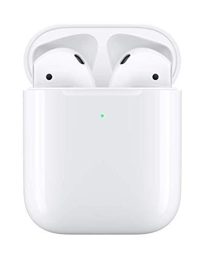 【進化版Bluetooth 5.0】最新Bluetoothヘッドセット TWS 完全ワイヤレスイヤホン iPhone 用 Bluetooth対応 マイク付き ヘッドセットタッチコントロール 対応Siriへアクセス 左右分離型 (airpods2) (白)