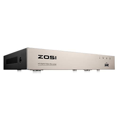ZOSI 8 Kanal 1080P HD H.265+ 4in1 TVI/AHD/CVI/Analog DVR Receiver Netzwerk Digital Video Recorder ohne Festplatte für CCTV Überwachungskamera HDMI VGA Ausgang