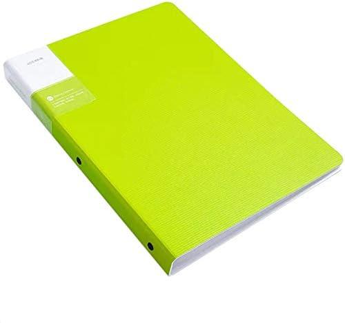 Inyear A4 informatiebrochure kunststof PP testpapier muziekpartituur clip 30 paginas 2331cm blauw