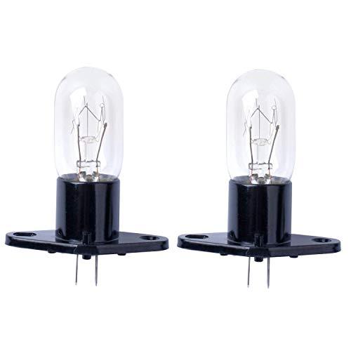 Poweka Mikrowellenlampe 25 W 240 V T170 für Mikrowelle Bosch, LG, Panasonic, Siemens, Neff (2 Stück)