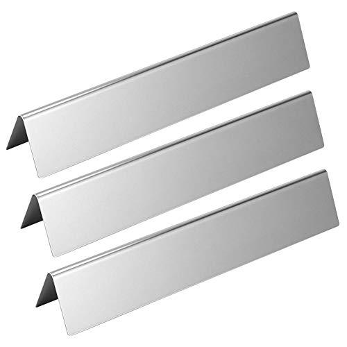 Tarente Heat Shield Grill 3pcs Acero Inoxidable Placa Gas Quemadores Cubre el reemplazo Las Partes aptas for Weber Parrilla Serie