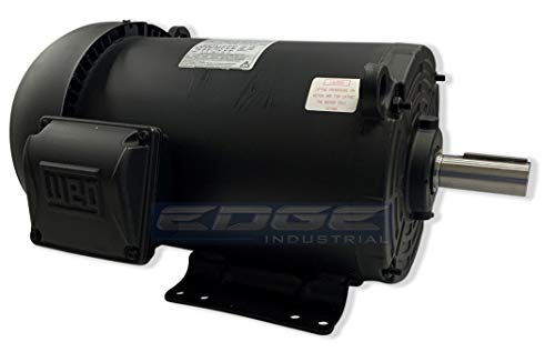 5HP 184T Frame, 3-Phase, 1750 RPM, TEFC Farm Duty, Industrial Electric Motor, 208-230/460 Volt