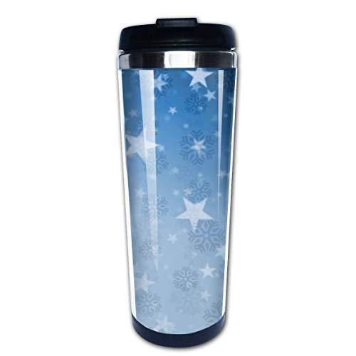 Taza de café de viaje Merry Christmas Tree Taza de café con aislamiento de acero inoxidable Botella de agua deportiva 13.5 oz (400 ml) MUG-5750