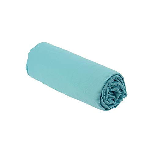 Drap House Percale 160x200 Bonnet 30 cm Turquoise - Couleur: Turquoise