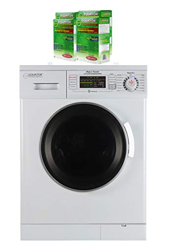 Equator Combination Washer Dryer with 4 Boxes of HE Detergent (White)