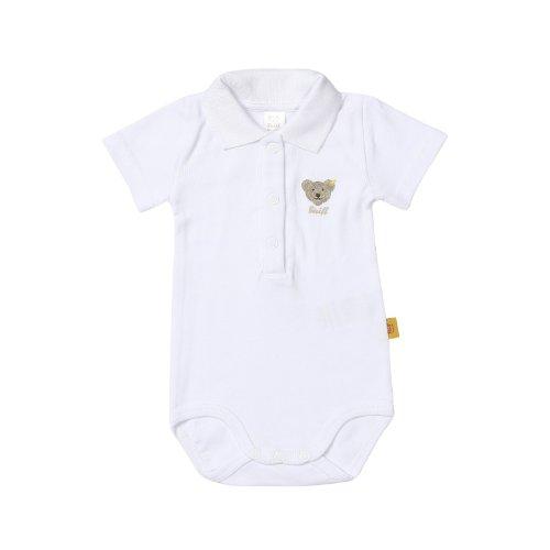 Steiff Steiff Unisex - Baby Body 0008703 1/2 Arm, Einfarbig, Gr. 56, Weiß (Bright White)
