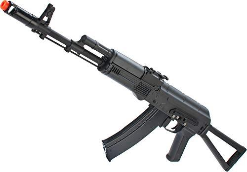 Evike New Version Full Metal CYMA/Kalash AK-74 Airsoft AEG Rifle w/Side Folding Stock - (Package: Add 7.4v LiPo Battery + Charger)