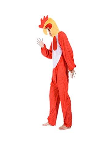 Gallo Rojo Disfraces de Animales Adultos Unisex Pijamas Traje de Disfraces Cosplay Onesies