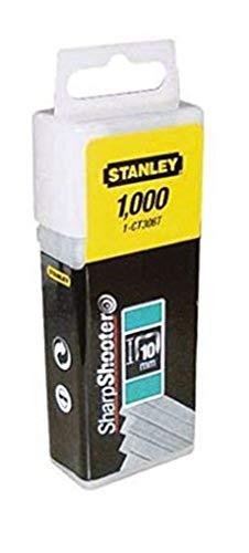 STANLEY Grapa Tipo 300-12mm-1000u. (para Grapadora 6-CT10X) 1-CT308T, 12mm, Set de 1000 Piezas