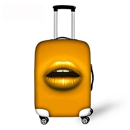 gopu mchy Sexy Labio gepäckabdeckung Mujer maletín de Protectora para Equipaje de Viaje Cubre Carcasa Psicodelia maletín Funda Protectora maletín para Equipaje Cover–Maleta de Viaje Luggage