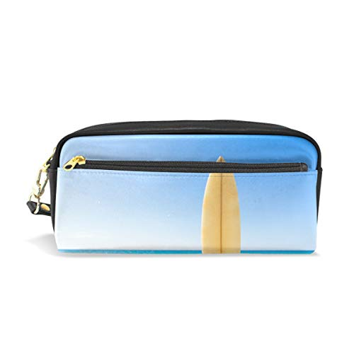 Pen Case Stationary Funny Holiday Surf Board At The Beach Pencil Bags Portable Pouch for School Kids Children Cosmetic Bag Makeup Beauty Case