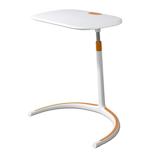 Tables basses Maison Canapé Table D'appoint Relevable Nordique Table Carrée Minimaliste Table De Chevet De Côté Cadeau (Color : Blanc, Size : 58 * 44.5 * 63.5cm)