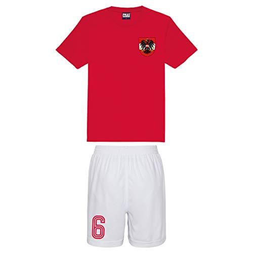 Kinder Trikot & Shorts Österreich Stil Fußball Trikot & Shorts Home Gr. 12-13 Jahre, rot