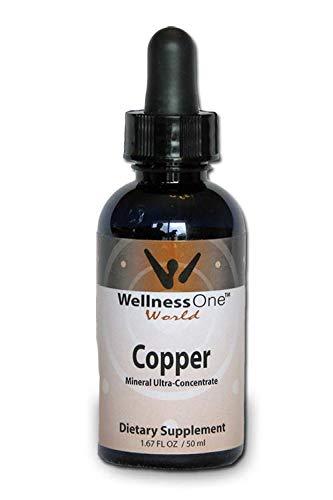 Copper - Best Liquid Ionic Mineral Supplement - (100 Days at 2mg per 10 Drops) 1.67fl oz. - Adjust Serving Sizes for Kids, Men and Women.