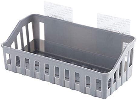 IHCIAIX Badkamer plank Plastic badkamer keuken opbergrek organisator plank badkamer organisator douche plank muur makeup organisator lichtgrijs