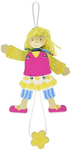 GOKI Hampelfigur Mädchen mit Holzkopf