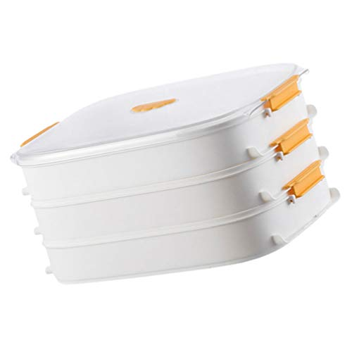 Cabilock Contenedores de Almacenamiento de Alimentos Congelador Contenedores de Alimentos Bandejas de Almacenamiento de Nevera con Tapas Filtro de Agua para Albóndigas de Comida