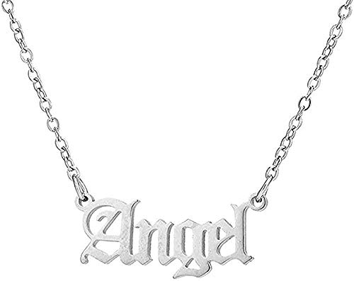 Collar Hip Hop Art Letter Collar de acero inoxidable Gothic Punk Gross Babygirl Angel Baby Princess Prince Colgante Harajuku Collar Regalo
