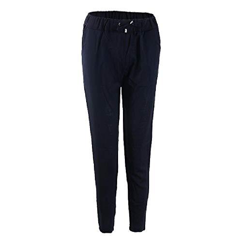 U/A Frauen Haremshose Lose Hose Frauen Elastische Hohe Taille FreizeithoseBürohose Lady Pants