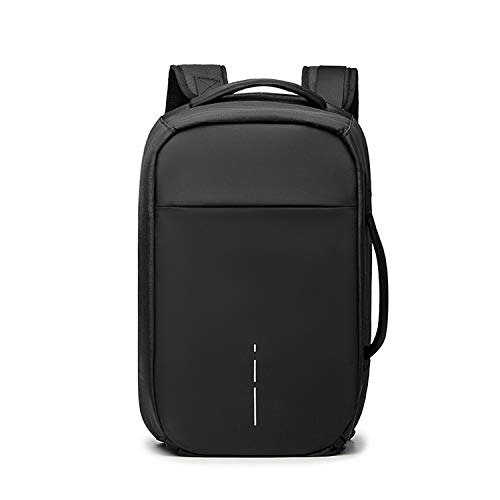 FANDARE 3 in 1 Laptop Backpack Business Travel Daypack College Computer Handbag Shoulder Crossbody Bag Knapsack for Men Outdoor Campus Pack with Shoes Compartment Waterproof Polyester New Black