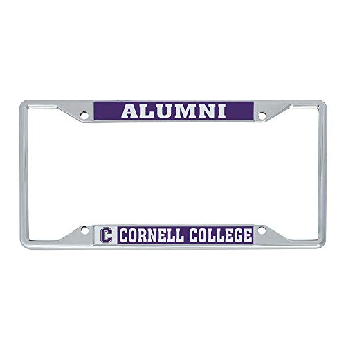 Cornell College Rams NCAA Metal License Plate Frame for Front or Back of Car Officially Licensed12' X 6'