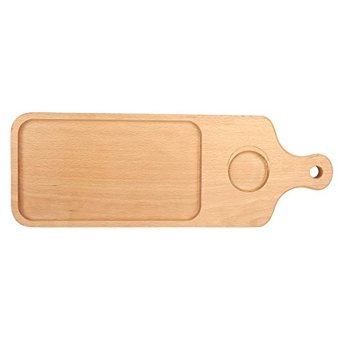 ROSEBEAR Tabla de Cortar de Bambú Natural para Carnes Pan Frutas Cocina Accesorios para Hornear (18 3 X 6 5)