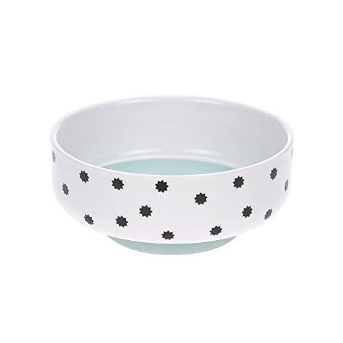 LÄSSIG Schüssel Porzellan Schälchen Kinderschüssel mit Silikonring rutschfest Kindergeschirr/ Little Chums Dog