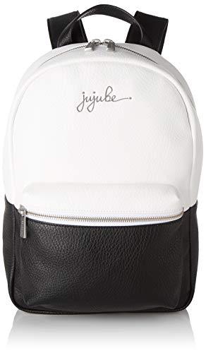 JuJuBe Mini-Rucksack aus veganem Leder, Schwarz/Weiß