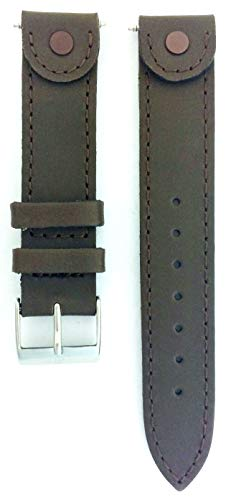 Genuine Swiss Army Dark Brown Leather 16mm Cavalry Watch Band