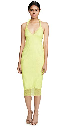 Dion Lee Women's Sheer Pleat Twist Tank Dress, Zest, X-Small