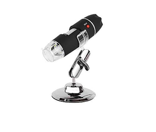Microscopio con zoom continuo de 500 aumentos. Se puede conectar a la lupa con iluminación USB con 2 millones de píxeles.