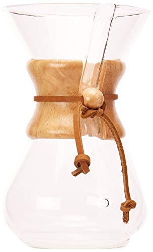 Chemex Cafetiere 6 Tasses Poignée Bois
