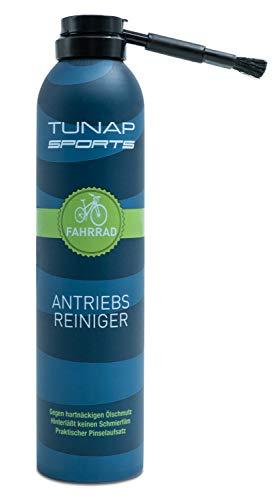 TUNAP SPORTS Antriebsreiniger, 300 ml Perfekte Reinigung von Kette und Ritzel am Fahrrad - Pinselbürste gegen Fingerverschmieren